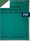 Johansson - Dynamic Psychology Early Buddhism