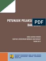 DAK Sanitasi Lingkungan Berbasis Masyarakat (SLBM) 2014