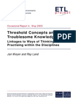 ETLreport4-1Threshold Concepts and Troublesome Knowledge