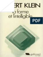 KLEIN Robert - La Forme Et l Intelligible