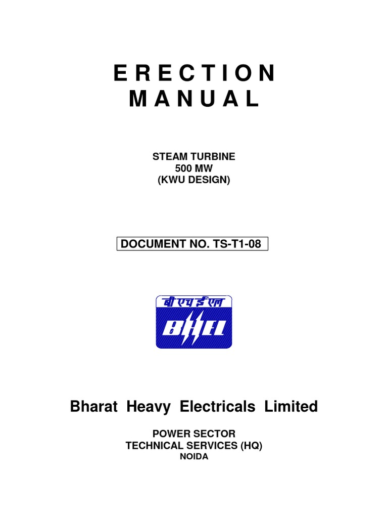 500 Mw Turbine Erection Manual Full Valve Figno1 Simple Wiring Diagram For A Residential Building