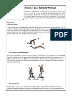 Plano de Treino 3 [Lose Fat Belly Workout]