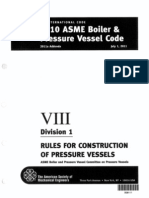 ASME BPVC 2010 - VIII - Division 1 - Rules for Construction of Pressure Vessels - 2011a Addenda