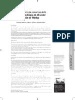 La Experiencia de Adopción de La Pml en El Sector de La Fundcion de Mexico