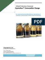 HydroFlux - Oilfiled Crude Oil Demulsifier Range