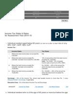 Income Tax 2014-15