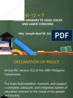 Labor Implications Kto12