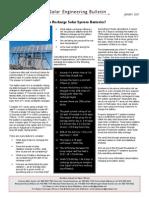 Solar Engineering Bulletin 07 1