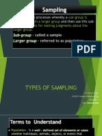 Sampling RESEARCH