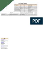 Electrical Supplier List
