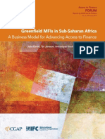 Greenfield MFIs in Sub-Saharan Africa