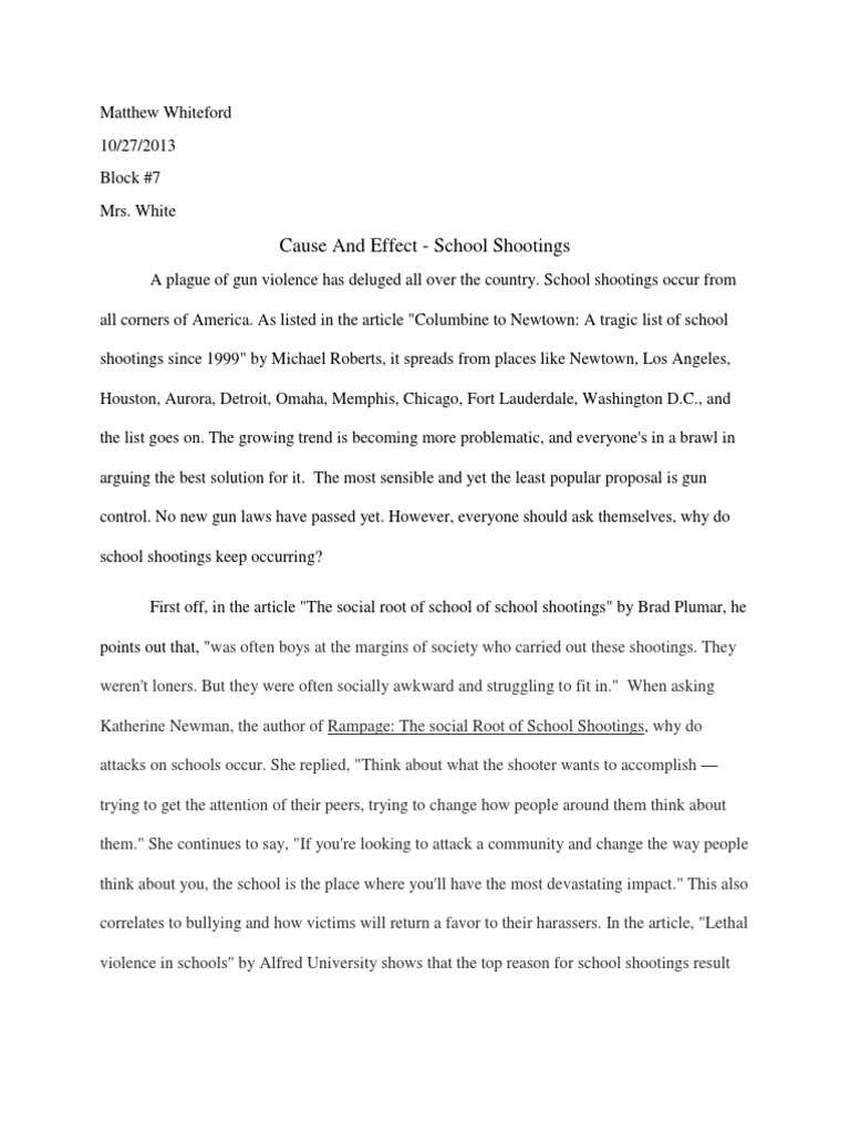 Essay on school shooting popular book review writers site usa