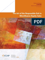 The Art of the Responsible Exit in Microfinance Equity Sales