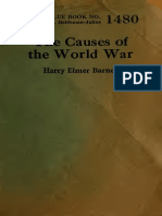 Barnes, H E - The Causes of the World War