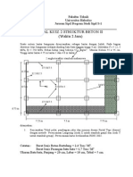 Contoh Soal Ujian Struktur Beton II