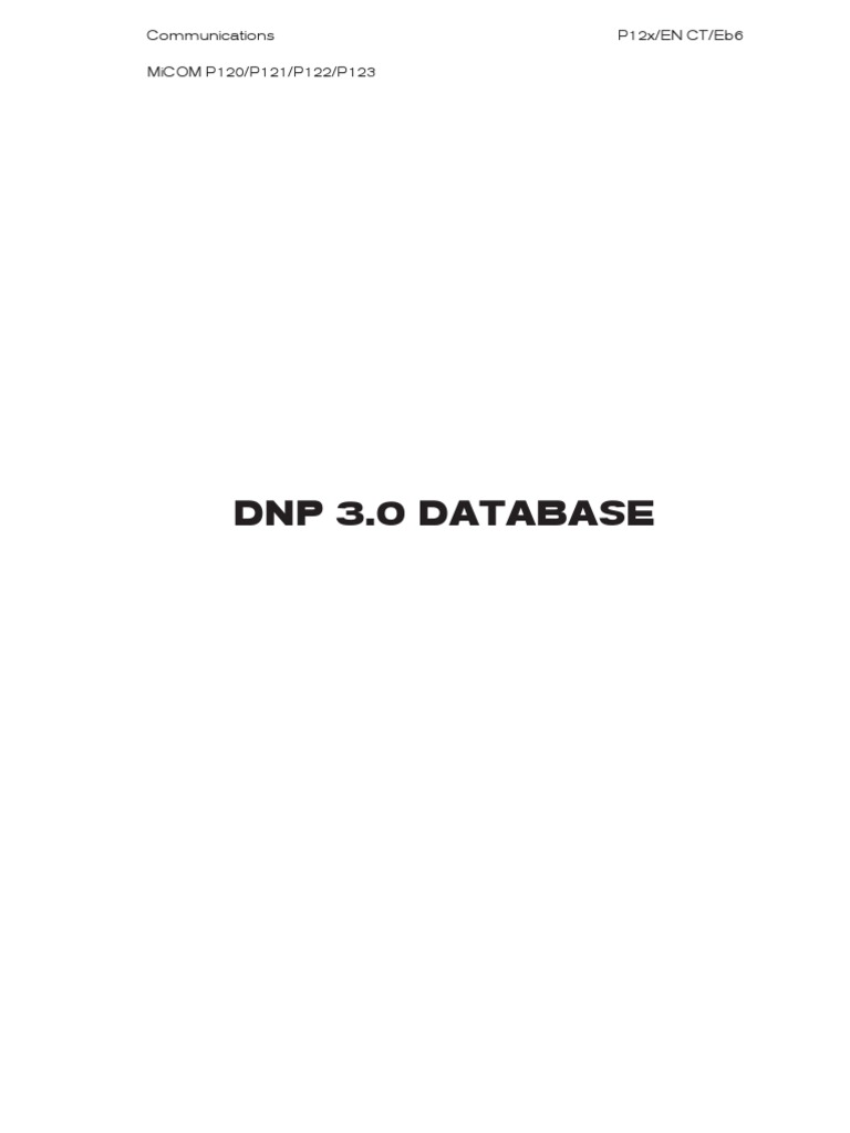 micom p122 dnp3 1 communications protocols databases rh scribd com P123 Malaysia
