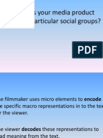 How Does Your Media Product Particular Social Groups?