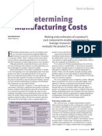 CEP_Determining Manufacturing Cost