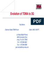 evolution tdma to 3g