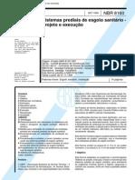 NBR 8160-99 - Sistemas Prediais de Esgoto Sanitário