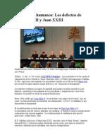 Santos Pero Humanos Los Defectos de Juan Pablo II y Juan XXIII