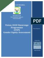 VUP Gender Equity Assessment Report.final