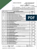 University Supervisor Evaluation #1