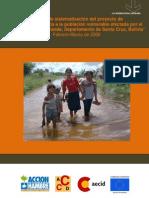 """Informe de sistematizacion del proyecto de """"Ayuda Humanitaria a la poblacion vulnerable afectada por el desborde del Río Grande, Santa Cruz, Bolivia"""""""