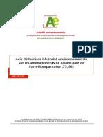 26 Mars 2014 Avant-gare de Montparnasse Avis Delibere Autorité Environnementale Cle2b7917