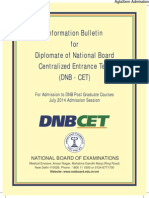 Dnb Cet Book- July 2014