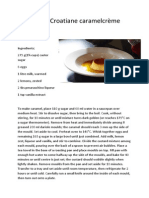Recipe for Croatian Caramelcrème