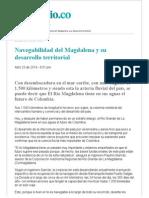 Navegabilidad Del Magdalena y Su Desarrollo Territorial DIAMANTES URBANOS
