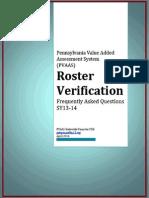 PVAAS 014 FAQ Roster Verification