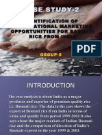 Identification of International Marketing Opportunities for Basmati Rice From India