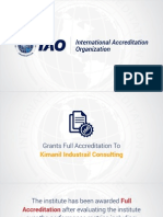 Kimanil Industrial Consulting Granted Full Accreditation by International Accreditation Organization