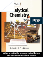 Instant Notes-Analytical Chemistry