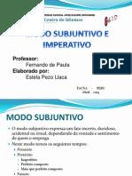 Modo Subjuntivo - Imperativo_Estela Portugues