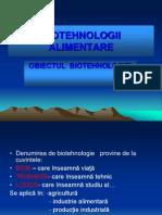 Biotehnologii Alimentare Curs 1