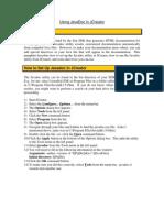 Java Docs in JCreator