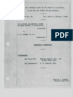 The case of AMORC (plaintiff) vs E. E. Thomas, et al.(defendants) (1931)