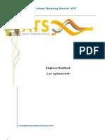 Employee Handbook Initials and Update 10-09