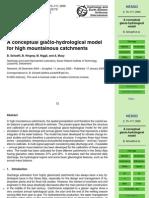 A Conceptual Glacio-hydrological Model