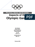 Political, Social and Economic Aspects of the
