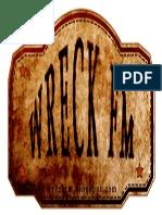 WreckFM Old Scratched Store Label