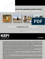 KEFI Minerals Apr 2014 Shareholder Update