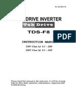 TDS F8 Manual Instrucciones
