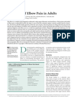 Evaluation of Elbow Pain in Adults