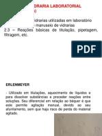 UNIDADE 2 - VIDRARIAS