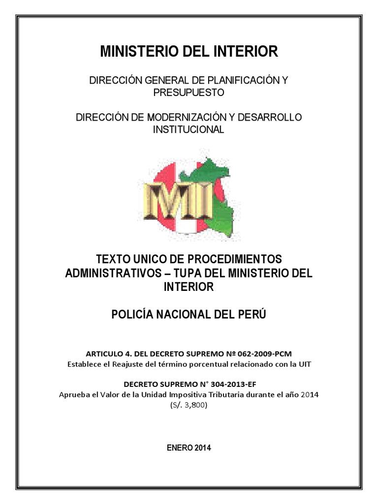 07012014101246 2 tupa uit 2014 pnp for Decreto ministerio del interior