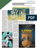 L'Insatiable Curiosité de Paul Klee-Le Monde 18-10-2013